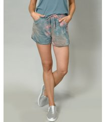 coin 1804 women's tie dye pocket shorts