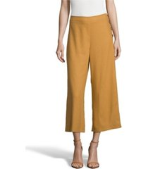 john paul richard linen cropped pants, petite