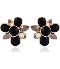 t tahari women's winter bloom post button earring