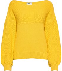 chunky cotton kalani stickad tröja gul mads nørgaard
