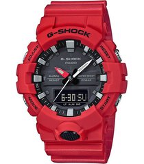 reloj g shock ga_800_4a rojo resina hombre