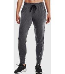 pantalón de buzo under armour ua rival terry taped pant gris - calce regular