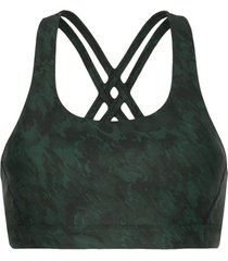 nimble activewear top esportivo estampado - verde