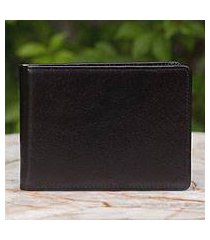 men's leather wallet, 'executive black' (thailand)