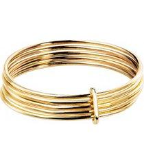 pierścionek złoty 5 elementów good karma