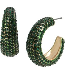 jessica simpson pave hoop earrings