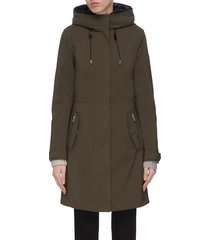 'katie' detachable puffer lining hooded parka