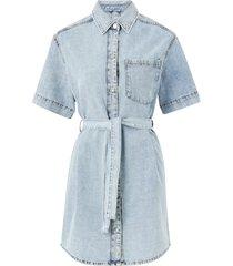jeansklänning short sleeve denim dress