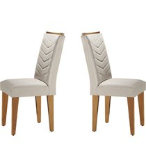 conjunto c/ 2 cadeiras londrina imbuia mobillare movelaria branco - branco - dafiti