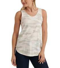 lucky brand camouflage-print tank top
