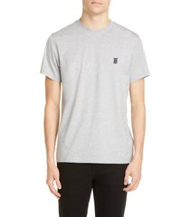 men's burberry parker embroidered logo t-shirt, size xxx-large - grey