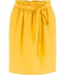 kjol med resår och knytband