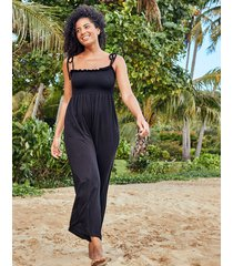 byron bay wide leg jersey jumpsuit