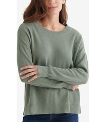 lucky brand blocked solid sweater