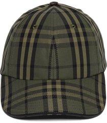 military green icon check cap