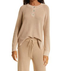 rails piper cotton henley sweater, size x-large in sand at nordstrom