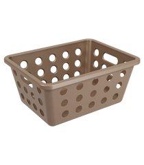 cesta one pequena 18,6 x 14,2 x 8,2 cm warm gray coza coza