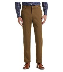 reserve collection tailored fit flat front chino pants by jos. a. bank