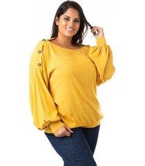blusa confidencial extra plus size bufante feminina