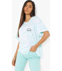 oversized tie dye t-shirt met borstopdruk, green