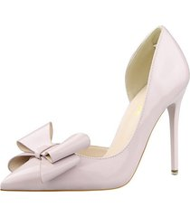 ps407 cute big bowtie pumps in candy color, us size 4-8.5, light gray