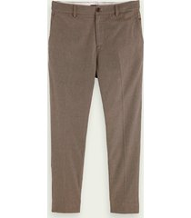 scotch & soda fave – gestructureerde chino   loose tapered fit