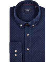giordano heren overhemd blauw stip denim button-down regular fit