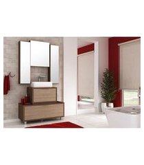conjunto banheiro armários superiores mdf 100cm lilies