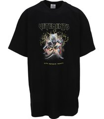 vetements electric logo heavy metal t-shirt