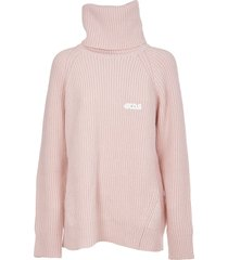 gcds pink turtleneck sweater