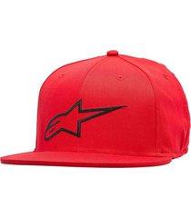 gorro ageless flat hat rojo alpinestars