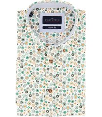 overhemd portofino korte mouw groen motief