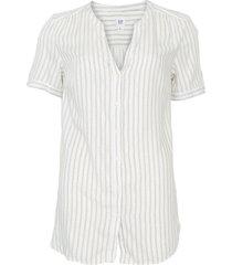 camisa gap reta listrada off-white