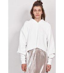 bluza hoodie 3/4 white