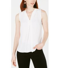 bar iii inverted-pleat top, created for macy's