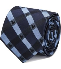 disney mickey mouse plaid men's tie