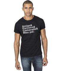 camiseta & && parceiro camarada meupai reserva - masculino