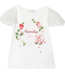 monnalisa monnalisa white t-shirt