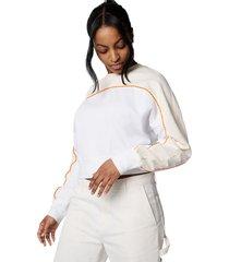 converse sudadera lightweight jersey white