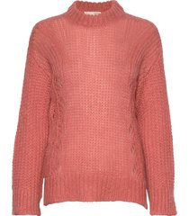 comfort over d sweater stickad tröja rosa odd molly