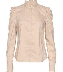hania blouse lange mouwen beige custommade