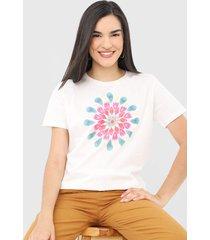 camiseta desigual milan off-white - off white - feminino - algodã£o - dafiti