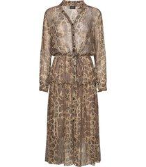 3400 - rayne/l maxi dress galajurk bruin sand