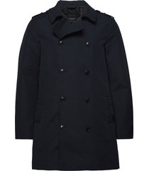 edit rogue trench trenchcoat lange jas blauw superdry