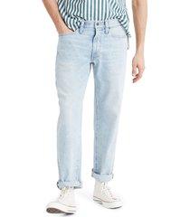 men's madewell slim straight leg jeans, size 35 x 32 - blue