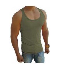 camiseta regata masculina tank 03 verde musgo