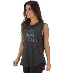 camiseta regata adidas id winners mt - feminina - preto