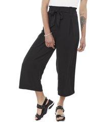 pantalón culotte lazo i negro mujer corona