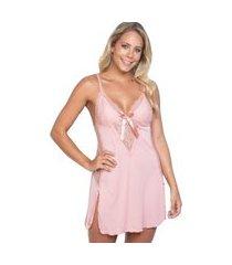 camisola click chique alça fenda e laço rosa