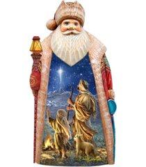 g.debrekht woodcarved hand painted shepherds keeping watch by donna gelsinger figurine